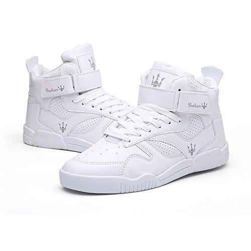 39 Top Sneaker da Casual Scarpe Uomo High FZUU 44 Scarpe Bianco f8AqSS
