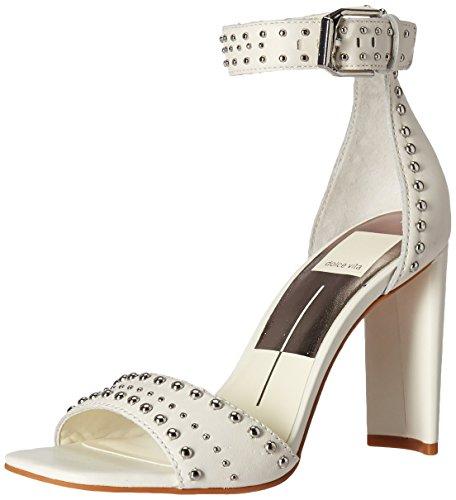Dolce Vita Women's Eloise Heeled Sandal Off White Leather 8.5 M US