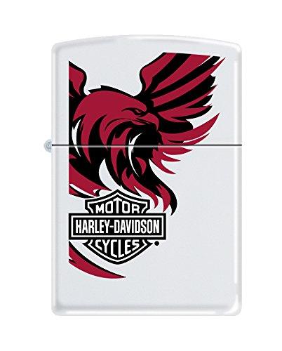 Zippo Harley-Davidson Logo & Eagle Pocket Lighter, White Matte