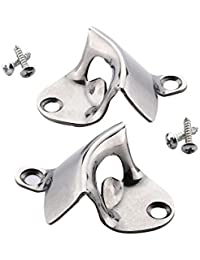 Win 2 Pack Stainless Steel Wall Mounted Bottle Opener with Free Stainless Steel Mounting Screws By HQY, Classic Style... lowestprice
