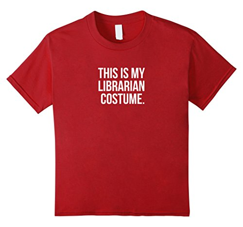 Kids This is my Librarian Costume Funny Halloween T Shirt 4 Cranberry
