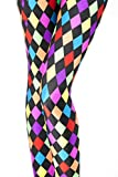 Russian Checked PrintMardi Gras Jester Party Joker leggings