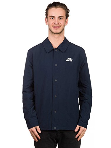 Nike SB Mens Coaches Jacket Dark Obsidian/White 724258-475 (X-Large)