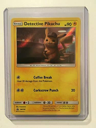 POKEMON DETECTIVE PIKACHU MOVIE PROMO CARD SM190 HOLO CARD - NEW