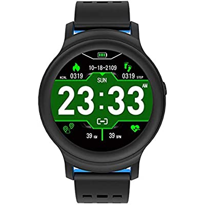HDJX Smart bracelet  round screen  heart rate  healthy sports bracelet  multi-sport mode smart watch  suitable for outdoor  mountain climbing