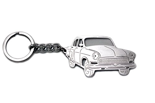 Stainless Steel Keychain suitable for GAZ 21 Pobeda Laser Cut Key Chain with Ring Car Body Profile Design 3D - Vogue Rx
