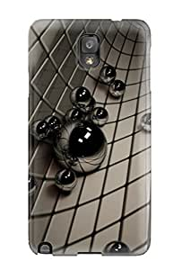 Hot Hot Metallic 3d Balls Tpu Case Cover Compatible With Galaxy Note 3