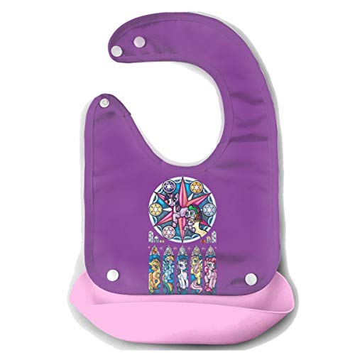 LightCa My Little Pony Stained Glass Window Bib Mouth Towel For Baby Pink 48]()