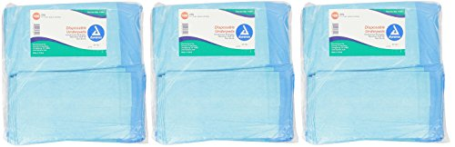 Dynarex Disposable Underpad, 17 inches X 24 inches NDgtYL, 3Pack (100 Count)