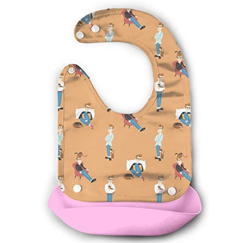 Price comparison product image Morrissey And The Cat Baby Bibs Waterproof For Babies And Toddlers Easily Wipes Clean Comfortable Soft