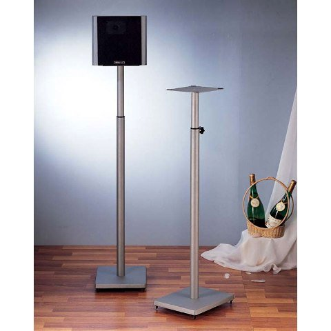 VTI Manufacturing BLE101S Silver Iron Cast Baseadjustable Speaker Stand