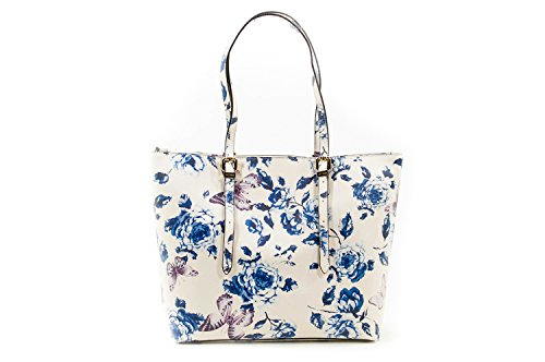 Guess Isabeau shopping bag ivory/blue