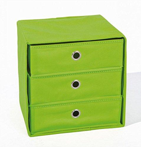 Faltbox WILLY Aufbewahrungs-Box mit 3 Schubladen, verschiedene Farben, Farbe:Lime