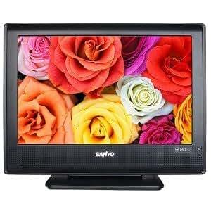 """19"""" Sanyo DP19648 720p Widescreen LCD HDTV - 16:10 850:1 5ms ATSC/QAM/NTSC Tuners (Black)"""