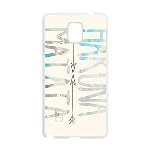 Hakuna Matata simple pattern Cell Phone Case for Samsung Galaxy Note4 WANGJING JINDA