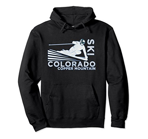 Unisex Ski Copper Mountain Hoodie - Vintage Snow Ski Sweatshirt Large - Sweatshirt Copper Mountain