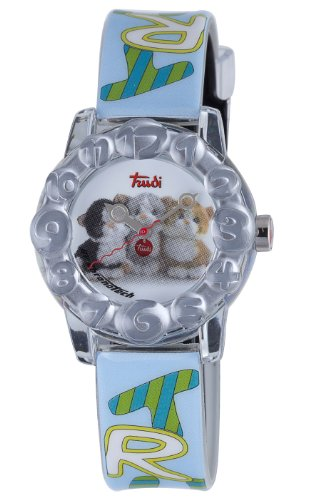Trudi Kid's Three Kittens Watch, Light Blue by Trudi