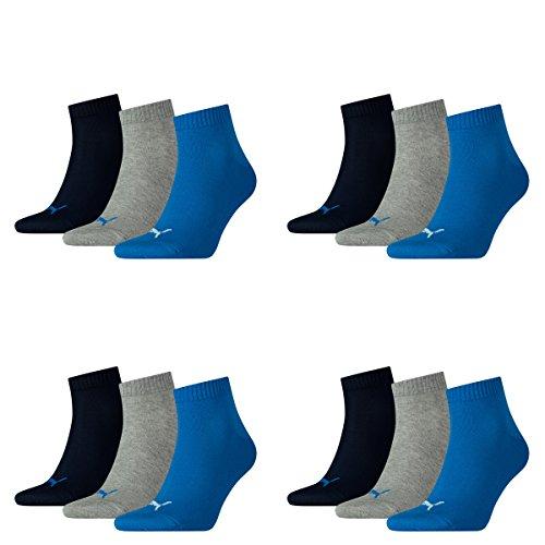 Blue amp; Unisex Puma Mélange Grey Pair Sneaker 277 Ladies Quarter 12 Mens Socks nHfvqWx