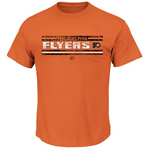 Majestic Philadelphia Flyers NHL Men's Vintage Stanley Cup History Banners T-shirt (Small)