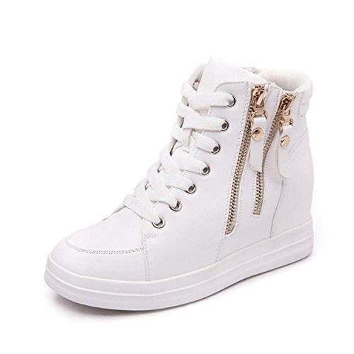 Dahanyi Stylish Leather Ladies High Top Heighten Women Shoes Winter Warm Zapatillas Deportivas Mujer Keep Warm Winter Shoes bai 7