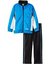 (1.9折)$7.65,ASICS Boys 2-7 Ready Set Go 亚瑟士蓝色运动夹克+长裤,