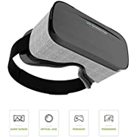 Jizze 3D VR Glasses Virtual Reality Headsets with Large Viewing Immersive Experience VR Headset HD VR Goggles for VR Games and 3D Movie Compatible for Iphone 6/6s 7 or Samsung S6/S7/S8
