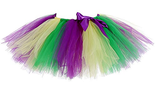 AQTOPS Adult Mardi Gras Tutu Skirt Fluffy Party