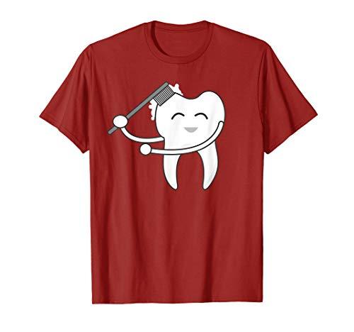 Tooth Doing Floss Dance Shirt | Cool Flossing Fang Tee -