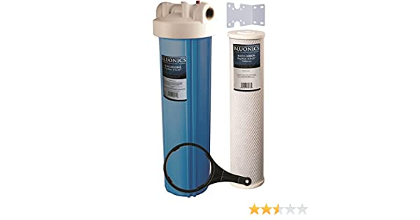 20 pulgadas grande azul Casa entera filtro de agua purificador w ...