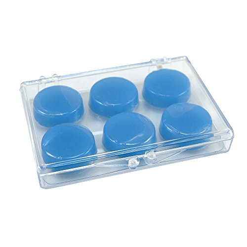 Ezy Care Silicone Ear Plugs (3 Pair) In a Convenient Plastic Carrying Case Great for Swimming