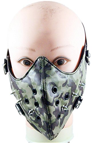 Shu li Men's and women's punk trend camouflage spike mask Harley riding warm mask by Shu li