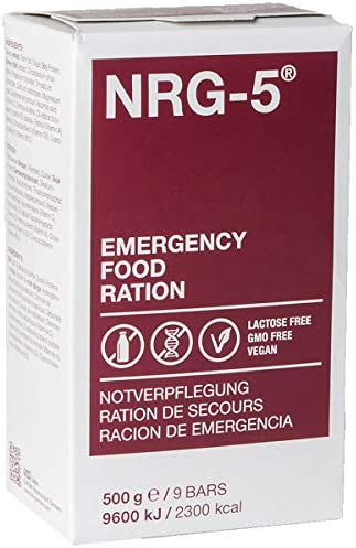 NRG Urgence Aliments Rations Survie Camping Haute Énergie Des Biscuits Nouveau