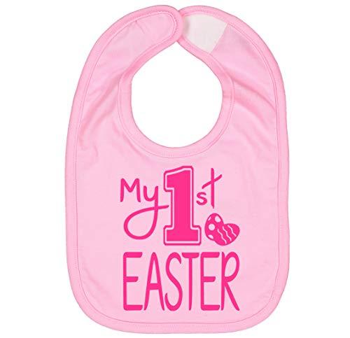 Handmade Cute Baby Boy Girl First Easter Bib - My 1st Easter Bibs (Pink Pink) ()