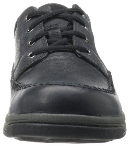 Clarks Heren Portland 2 Tie Toevallige Schoen Zwart Leder