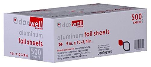 Daxwell Aluminum Foil Interfolded Pop-Up Sheets, 9