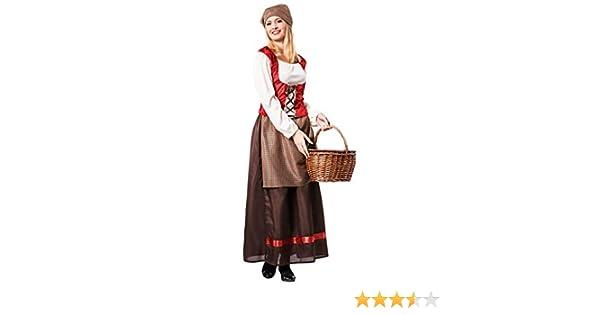 Disfraz de Posadera Medieval para mujer: Amazon.es: Juguetes y juegos
