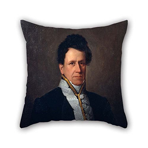 Pillow Cases of Oil Painting Antonio Mar??a Esquivel - Portrait of Manuel M? Guti??rrez for Club Outdoor Drawing Room Dance Room Bf Chair 20 X 20 Inches / 50 by 50 cm(Two Sides) -