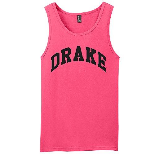(Campus Merchandise NCAA Drake Bulldogs Arch Neon Tank, Neon Pink, Medium )