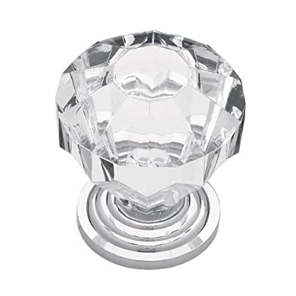 Incroyable Liberty P30122 CHC C Acrylic Faceted Kitchen Cabinet Hardware Knob, Chrome  U0026 Clear