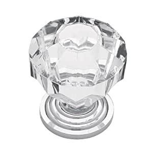 Liberty P30122-CHC-C 1-1/4-Inch Acrylic Faceted Cabinet Hardware Knob