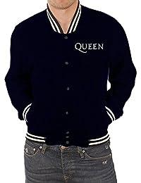 Jacket Classic Band Logo Crest Official Mens Blue Varsity