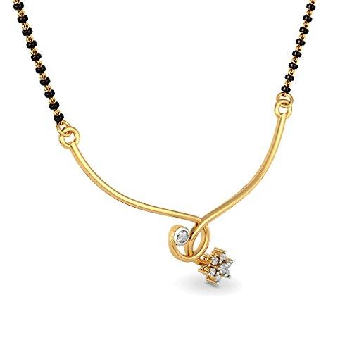 18K Or jaune 0,15CT TW White-diamond (IJ | SI) Mangalsutra