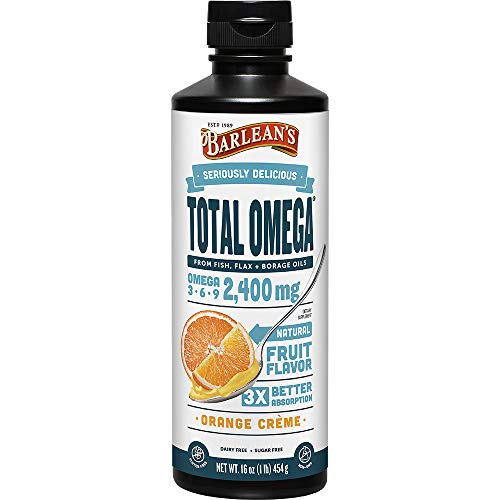 Barlean's Seriously Delicious Total Omega, Orange Crème, 16-oz
