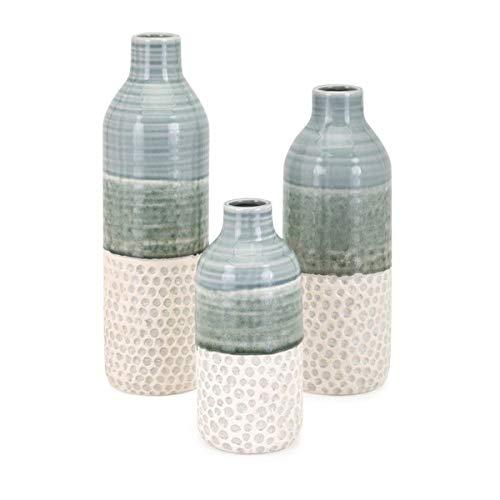Imax 10967-3 Dahlia Set of 3 Vases Green