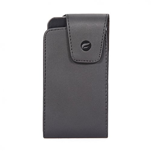 Black Vertical Leather Case Side Pouch Cover Holster with Swivel Belt Clip for Alltel Blackberry Curve 8530 - Alltel Blackberry Curve 9310 - Alltel Blackberry Tour 9630 - Alltel Blackberry ()