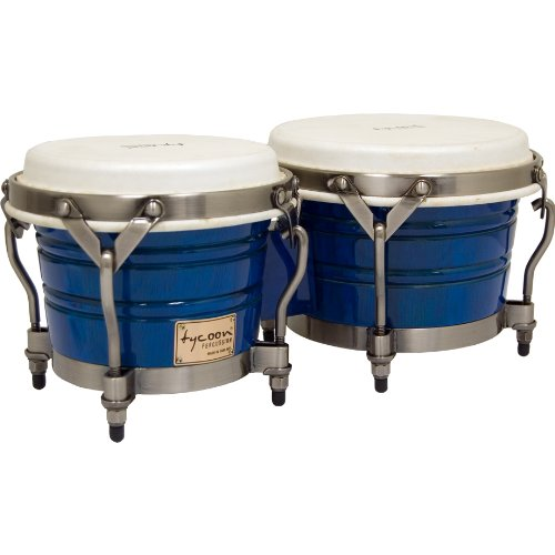 Signature Series Bongos - Tycoon Percussion 7 Inch & 8 1/2 Inch Signature Classic Series Bongos - Blue Finish