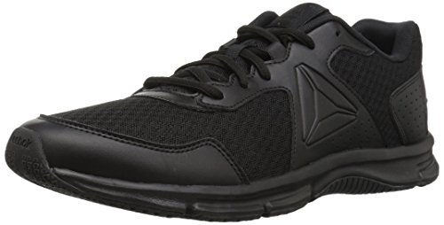 Reebok Men's Express Runner Sneaker, Black/Coal, 7.5 M US
