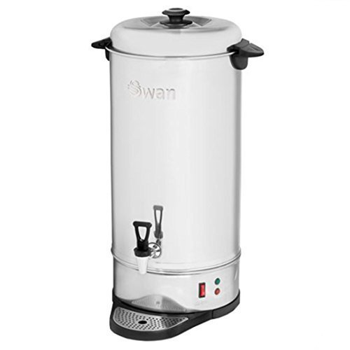 Swan Tea Urn Commercial Electric Catering Hot Water Boiler (Stainless Steel, 26 Litre) by Swan