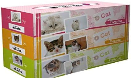 ヨンパ プリティーキャット BOX ティッシュ 1パック130W3個 計24パック 販促用 イベント用 贈答用
