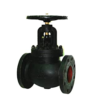 Apollo 711F Series Cast Iron Globe Valve, Class 125, Inline, Bolted Bonnet, Flanged